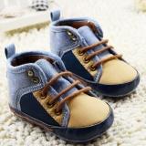 Ga bọc đệm hqs Cho Bé Tập Đi cho trẻ sơ sinh bé trai Đế Mềm thời trang prewalker Cũi Giày 0-18 Tháng-quốc tế