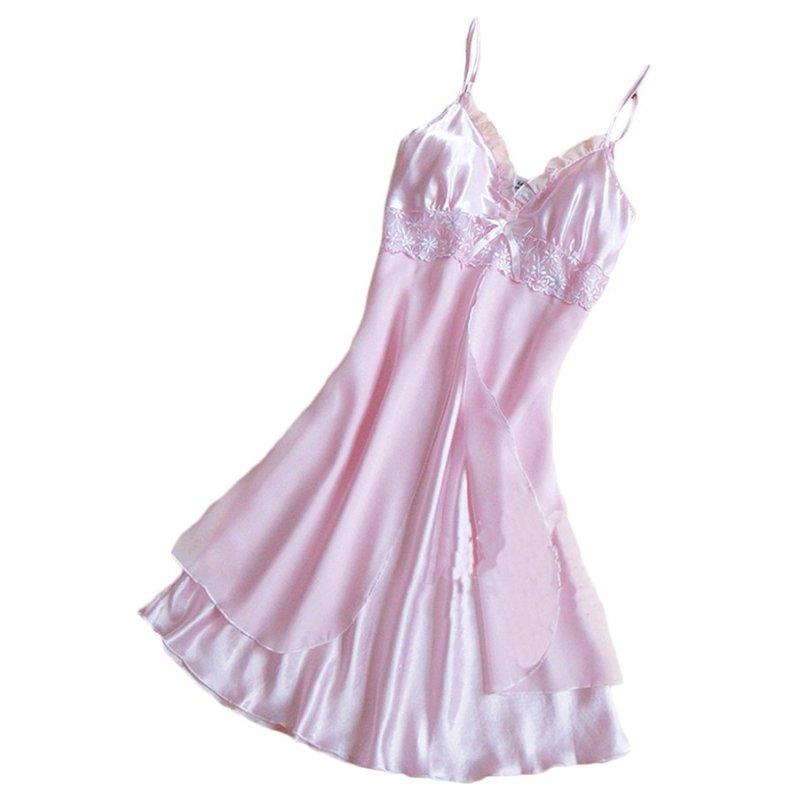 Nơi bán Xu thế Mua Chân Váy Xòe Caro Đồ Ngủ Áo Choàng (Hồng)-quốc tế