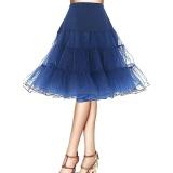 Chiết Khấu Jiayiqi Women Fashion Crystal Yarn Petticoat Pleated Skirts Rockabilly Tutu Intl Jiayiqi Trong Trung Quốc