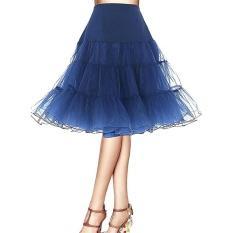 Bán Jiayiqi Women Fashion Crystal Yarn Petticoat Pleated Skirts Rockabilly Tutu Intl Trực Tuyến Trong Trung Quốc