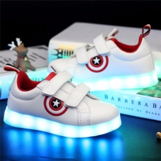 Hình ảnh Kid Light Shoe Colorful Light-up Shoe LED Children Plate Shoes - intl