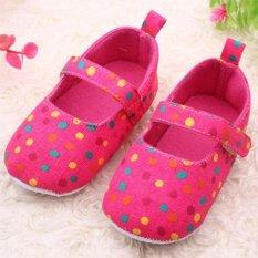 Giá bán Trẻ em Cho Bé Tập Đi Bé Gái Công Chúa Giày Chấm bi Đế Mềm Giày 0-12 tháng tuổi HOA HỒNG-quốc tế