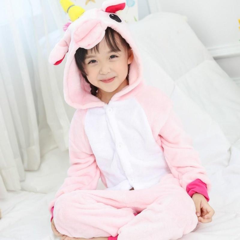 Nơi bán Kids Unicorn Pajamas Kigurumi Unisex Boys Girls Cosplay Animal Costume Sleepwear ( #4 Pink / Size : 85~125 / Height : 90~150 ) - intl