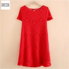 Mua Kiểu Vay Đầm Suong Chữ A Đẹp Thời Trang Cao Cấp Dressie Ku0743B Đỏ Rẻ Vietnam