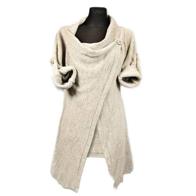 Knitwear Cardigan Irregular Long Sleeve Spring Sweaters Loose Women's Fashion Pullover Tee Casual - intl