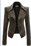 Bán Korean Style Women S Pu Jackets G*rl Casual Zipper Coat Cool Women Long Sleeve Jacket Lady Coats Intl Có Thương Hiệu Rẻ
