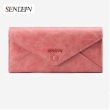 Bán Mua Trực Tuyến Lan Store Sendefn High Grade Genuine Leather Lady Purse Vintage Long Female Wallet Women Envelope Wallets Pink Intl
