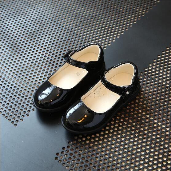 Leyi Giày Da Cho Bạn Gái Mới Giày Cho Bé Gái, Giày Cho Công Chúa Và Giày Nhỏ Cho Bạn Gái Trong Mùa Xuân Đen-Quốc Tế