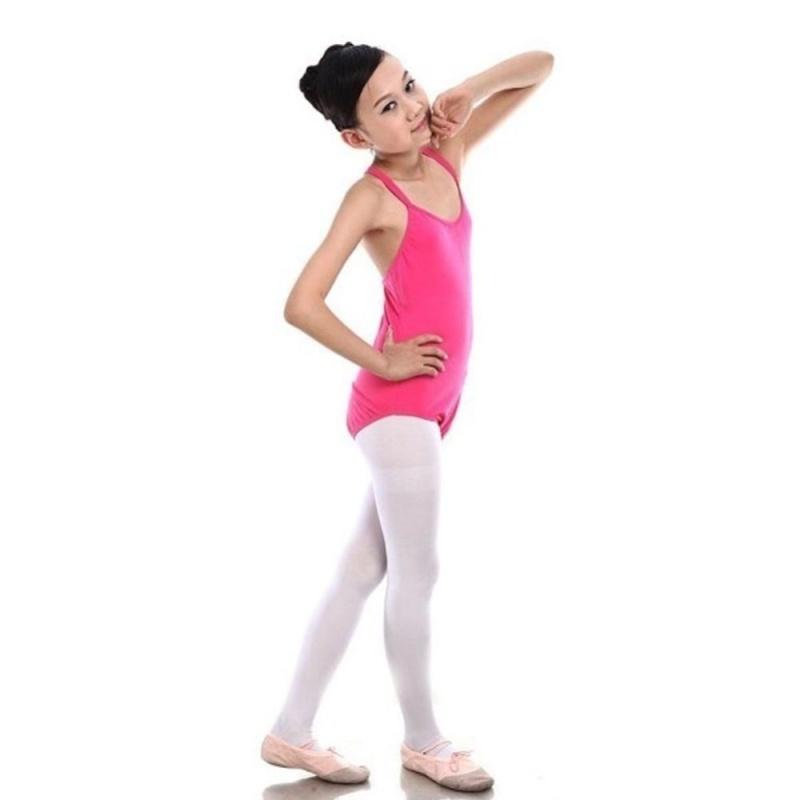 Nơi bán Makiyo 170 CM Kids Ballet Dance Gymnastics Leotards Sleeveless Vest Bodysuit Jumpsuit Leotard Girls Cotton (Rose Red) - intl