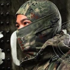 Chiết Khấu Makiyo Ngoai Trời Ngụy Trang Chiến Thuật Khẩu Trang Quan Sự Bong Sơn Full Mặt Airsoft Thoang Xe May Trượt Tuyết Đi Xe Đạp Full Hood Mũ 3 Quốc Tế Trung Quốc