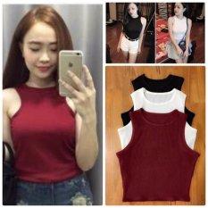 MẪU MỚI - Bộ 3 áo thun nữ 3 lỗ ngược vải thun cực yêu ( đen, trắng, đỏ đô )