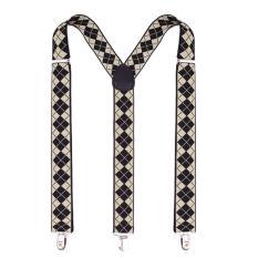 Nam Thời Trang Có Điều Chỉnh Độ Rộng Suspender Y Hình Thun Nẹp 3 Kẹp Skinny Treo Áo D-quốc tế