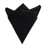 Men Suit Pocket Square Towel Handkerchief (Black) - intl