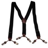 Mens Heavy Duty Trouser Belt Suspender Suit Suspender Elastic Adjustable - intl