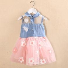 Hình ảnh Moonar Bé Gái Kids Cho Bé Voan Xếp Tầng Váy Đầm Công Chúa Ren Dự Tiệc Tutu Váy (Hồng) -quốc tế
