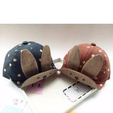 Hình ảnh Mũ,nón tai thỏ cực dễ thương cho bé trai và bé gái K59 (Xanh)