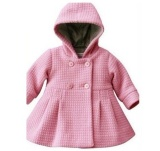 Bán New Baby Toddler Girls Fall Winter Horn Button Hooded Pea Coat Outerwear Intl Oem Nguyên