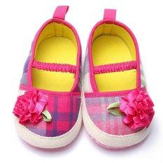 Giá bán Mới Màu Hồng Dễ Thương Hoa Bé Gái Đế Mềm Giày Sneaker Giày Tập Đi Cho 0-18Month-quốc tế