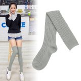 Giá Bán New Fashion Women Girls Knit Cotton Over Knee Thigh Stockings High Socks Tights Light Grey Intl Nguyên Unbranded