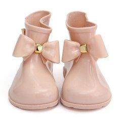 Giá bán Bé Gái mới Nơ Dễ Thương Thạch Cao Su của Trẻ, Mẫu Giày Đi Mưa Công Chúa Giày Đi Mưa Hồng 27-16.8 cm -quốc tế