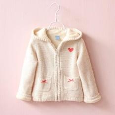 Giá bán New Kids Coat Sweater Outerwear Warm Kids Sweater Thicken Toddler Girls Cardigan Coat - intl