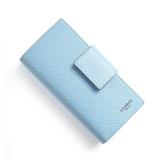 New Long Purse Korean Cross Agraffe Multicard For Women Pocketbook - Blue - intl