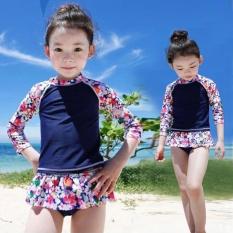 Hình ảnh New Split Children's Swimsuit, Cute Cartoon Skirt, Girls Long Sleeved Sunscreen Swimsuit - intl