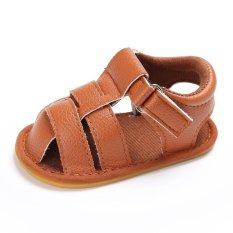 Hình ảnh Sơ sinh-18 Tháng Mùa Hè Bé gái Bé Trai Trơn Mềm Mại Đế Giày Dễ Thương Giày Xăng S1922 Màu màu nâu-quốc tế