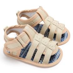 Sơ Sinh-18 Tháng Mùa Hè Bé Gái Bé Trai Trơn Mềm Mại Đế Giày Dễ Thương Giày Xăng S2018 Màu Kaki-Quốc Tế By Crazy Store.
