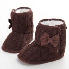 Giá bán Newborn-18M Bé gái Bé Trai Mùa Đông Ấm Trơn Dễ Thương Giày Tập Đi Cho Bé Giày Đế Mềm S1645 Cà Phê- quốc tế