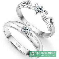 Nhẫn đôi Bạc Hiểu Minh nc035 vua nữ hoàng