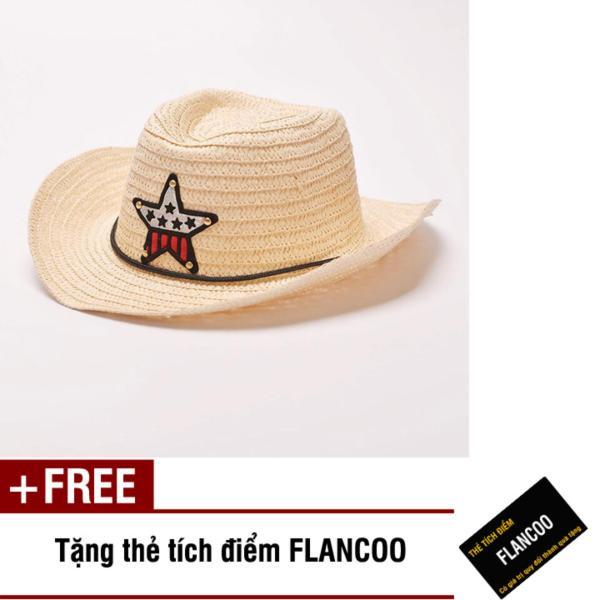 Nón trẻ em chất liệu cói Flancoo 8731 (Kem) + Tặng kèm thẻ tích điểm Flancoo
