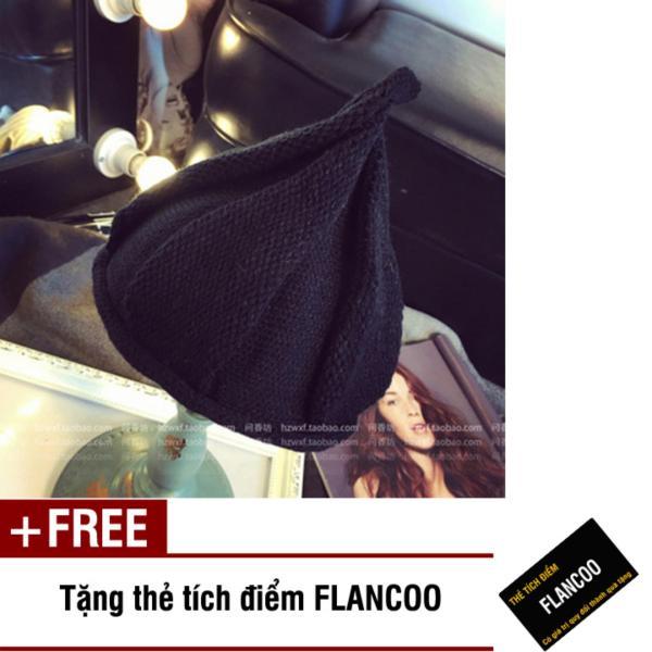Nón trẻ em chất liệu len Flancoo 8753 (Đen) + Tặng kèm thẻ tích điểm Flancoo