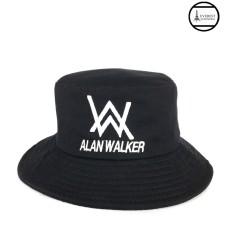 Nón vành fedoras nam thêu hình Alan W thời trang Everest H305 (Đen)