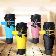 Bán O Che Mưa Nắng Gấp Sieu Nhẹ 195Gam Nhỏ Gọn Thiết Kế Thời Trang Mini Pocket Umbrella Mau Đen Rẻ Hà Nội
