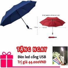 Giá bán ô dù che mưa, nắng tự động cao cấp 2 chiều đường kính 127 cm màu xanh đen