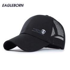 Ngoài trời áo bóng chày lưới nắp nam thể thao chính hãng thư lá chắn logo snapback lưới mũ chống nắng cotton thời trang chạy mũ lưỡi trai nam (Đen) -quốc tế