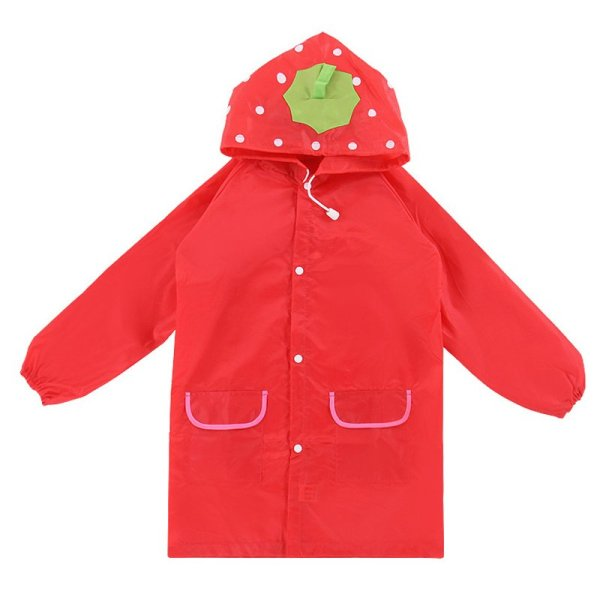 PAlight Kids Cartoon Waterproof Rain Coat (red) - intl