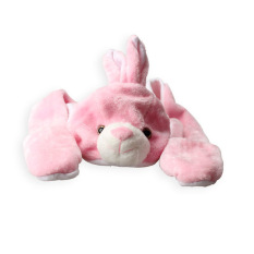 Giá bán Pink Bunny Hats with Ears Cartoon Plush Warm Cap Hat Earmuff Scarf (Intl)