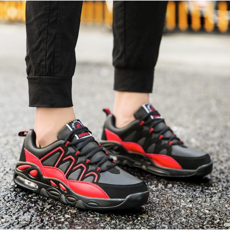 Professional Basketball Shoes LiNing Cloud Breathable Sneakers(black&red) - intl