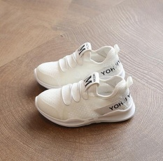 Hình ảnh Qizhef Boy Sneaker Baby Soft Sole Shoes Net White Shoe And White Shoes White - intl