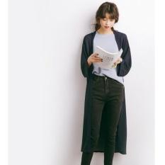 QQ long Chiffon sunscreen clothing-Navy Blue - intl