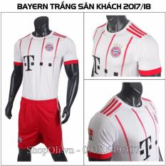 Mua Quần Ao Bong Đa Bayern Munich Trắng Đỏ San Khach 2017 2018 Cp
