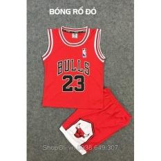 Hình ảnh Quần áo bóng rổ trẻ em Bulls 23 đỏ