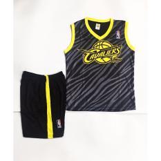 Hình ảnh Quần áo bóng rổ trẻ em Cavaliers màu đen