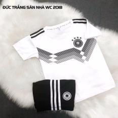 Hình ảnh Quần áo đá banh trẻ em đội tuyển Đức trắng world cup 2018