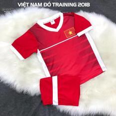 Hình ảnh Quần áo đá banh trẻ em đội tuyển Việt Nam training 2018 đỏ