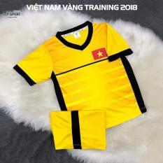 Hình ảnh Quần áo đá banh trẻ em đội tuyển Việt Nam training 2018 vàng