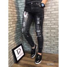 Mua Quần Jeans Nam Rach Trẻ Trung 561 Lylyfashion Đen Rẻ Hồ Chí Minh