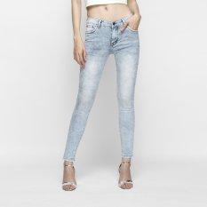 Bán Quần Jeans Nữ Dang Om Skinny Lưng Vừa Mau Xam Trắng Aaa Jeans Nhập Khẩu